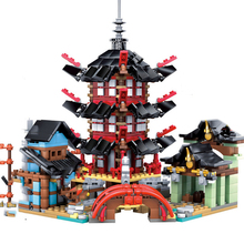 Compatible Ninjagoes Series 70751 Temple of Airjitzu Set Mini Figures 06022 Mini Version Building Blocks Toys for Children Gift lepin 06022 ninja compatible legoingls 70751 blocks ninja figure temple of airjitzu toys for children building blocks 70603 toys