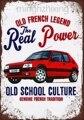 Винтажный французский автомобиль Peugeot 205 Gti, Оловянная вывеска, украшение для стен дома, металлический постер для паба (посетите наш магазин, ...