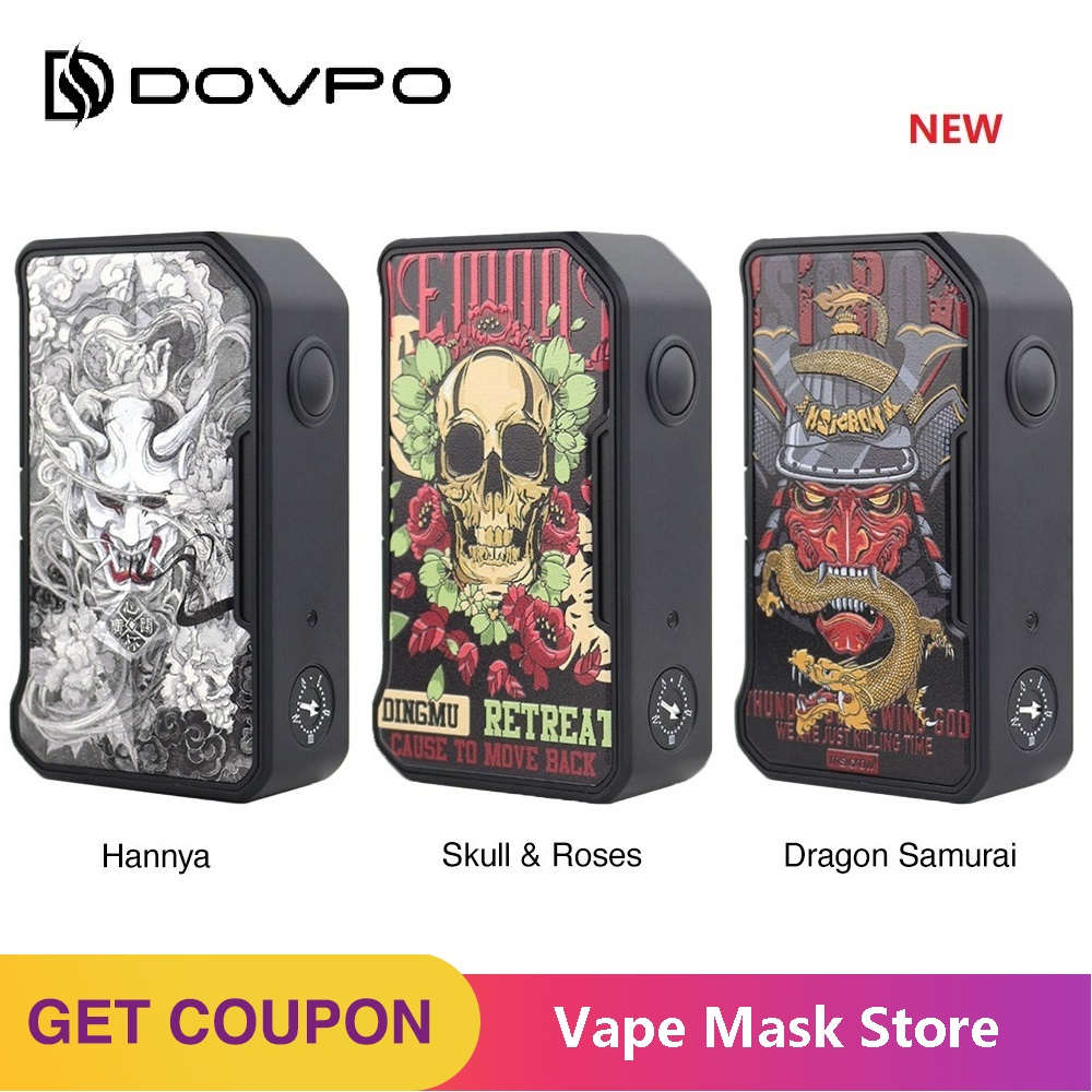 Original Dovpo M VV II Box Mod Max Output 280W E-cig Mod W/ Magnetic Battery Cover & Adjustable Voltage Range Vs Drag 2/ Shogun