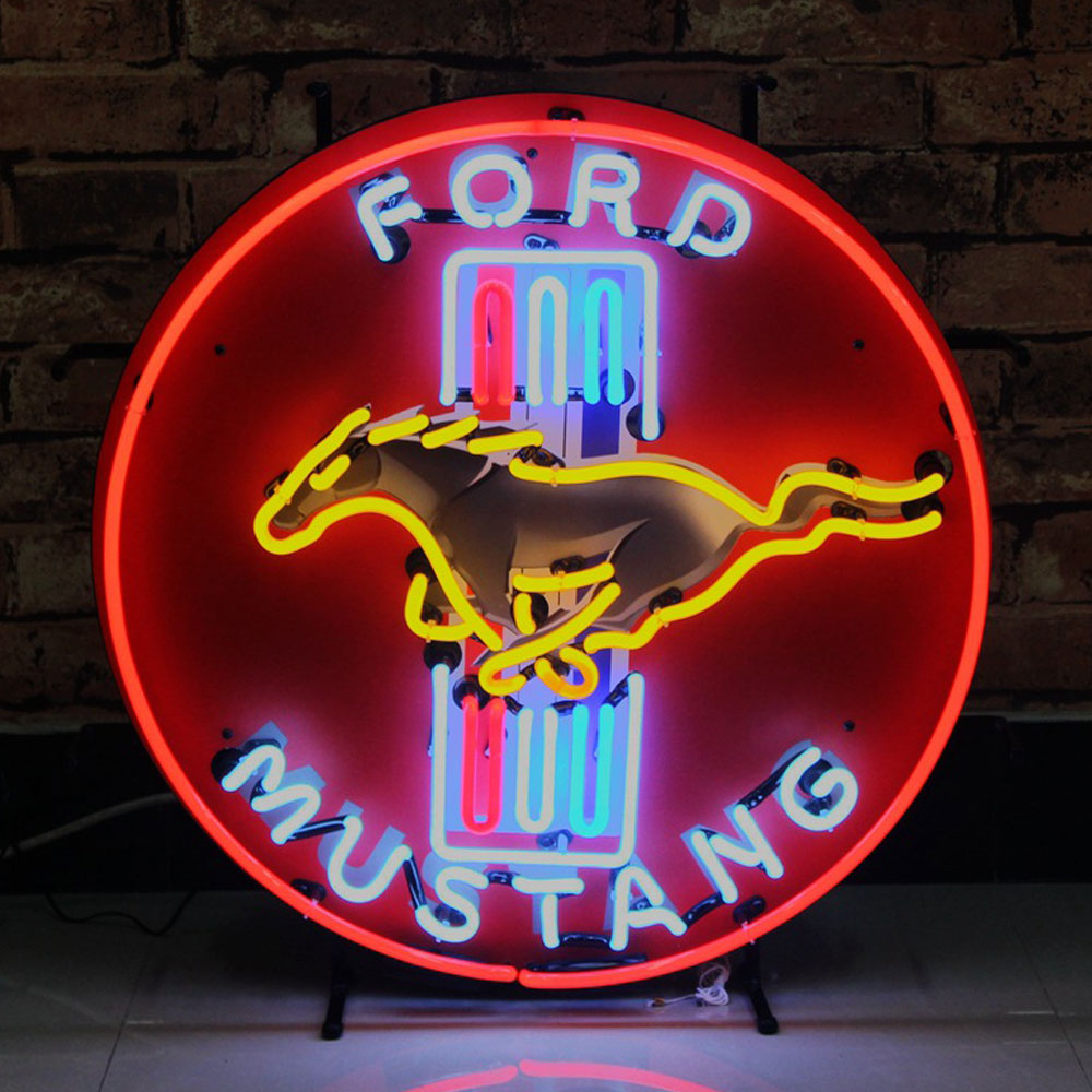 Gorgeous Handcrafted Glass Neon Sign Mustamg Neon Signs And Brand Logo Customization Neon Bar Light Board With Metal Support