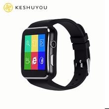 X6 tela curvada relógio inteligente com câmera bluetooth facebook whatsapp apoio sim tf cartão chamada smartwatch para android telefone dz09