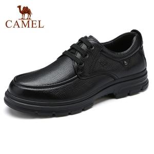 Image 4 - CAMEL chaussures pour hommes été en cuir hommes affaires décontracté grand cuir chevelu peau de vache ensembles papa chaussures anti dérapant élastique résistant chaussures hommes