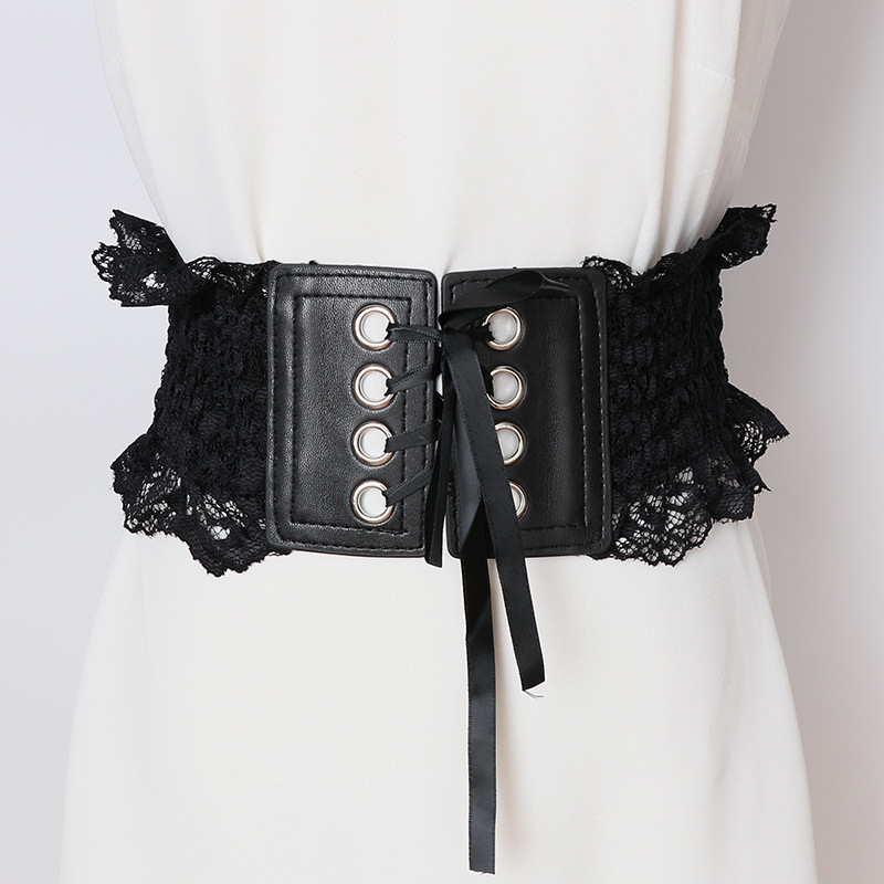 2020 New Fashion Design Corset Belt Solid Drawstring Lace Belts For Women All-match Wide Belt Female Elastic Waistband ZK791