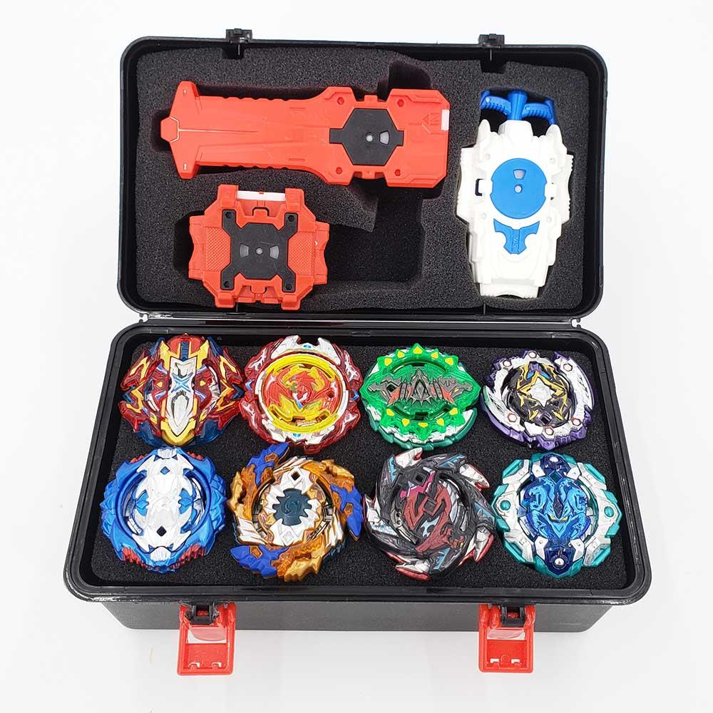 Top Beyblade Burst Bey Blade jouet métal Funsion Bayblade Set boîte de rangement avec poignée lanceur boîte en plastique jouets pour enfants