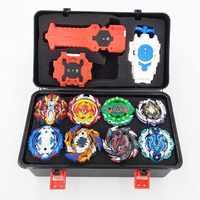 Top Kai Watch Land Bey Blade de juguete Metal Funsion Bayblade conjunto caja de almacenamiento con mango lanzador de caja de plástico juguetes para los niños