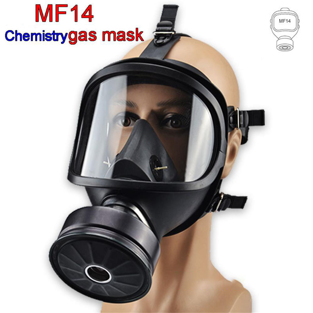 MF14 Chemical Gas Mask Chemical Biological Radioactive Contamination Self-priming Full Face Mask Classic Gas Mask Natural Rubber