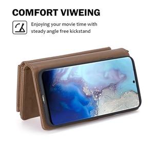 Image 3 - Para Samsung Galaxy S20 Plus A71 A51 PU Funda de cuero estilo Simple desmontable magnético Flip Case teléfono cubierta protectora