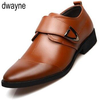 Zapatos de vestir de oficina para hombre, calzado formal de cuero italiano,...