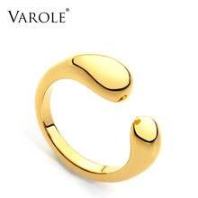 Varole Супер милое Открытое кольцо золотого цвета маленькие