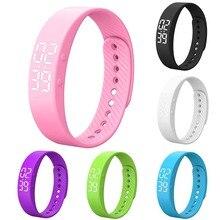 Sleep Monitor Adjustable Sedentary Remind Message Step Counter Watch Alarm Wristband Smart Bracelet Waterproof Pedometer #5 все цены