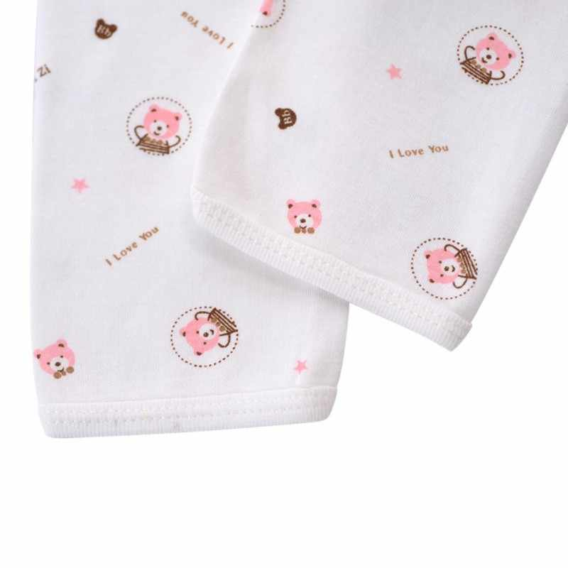 Ropa interior de algodón para recién nacidos, ropa de dormir transpirable con estampado de dibujos de animales para niños y niñas