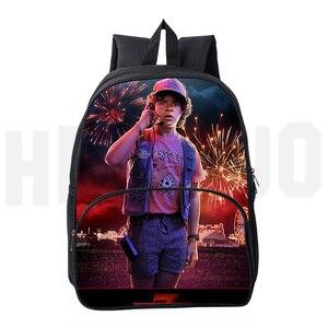 Kpop Mochilas Stranger Things Season 3 сумка 3D принт странные вещи рюкзак мужской Школьный Рюкзак 16 дюймов