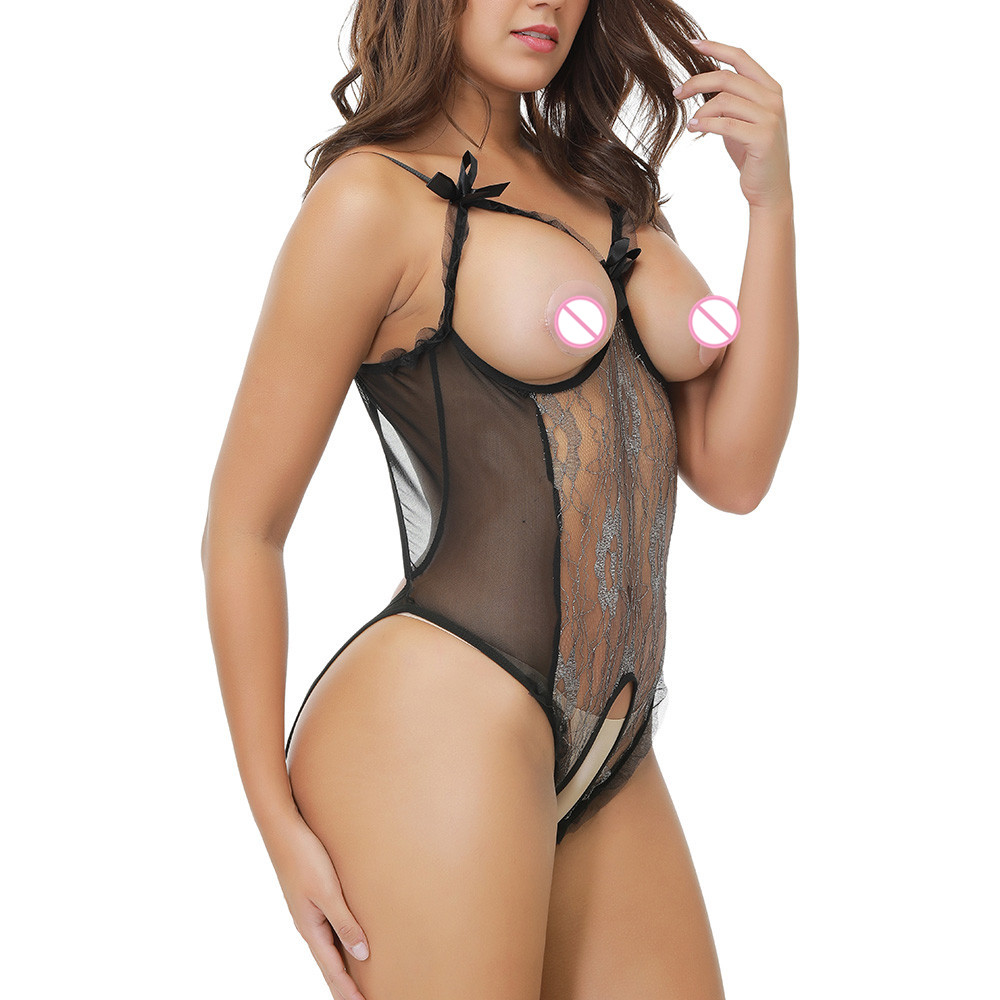 Erotic Sexy Lingerie For Women Sex Underwear Porn Babydoll Perspective Lace Open Bra Crotchless Sexy Lingerie Erotic Costume