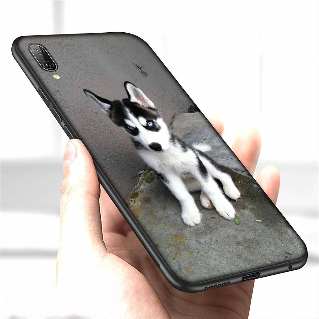 IYICAO Bella cucciolo di cane husky Morbido Custodia In Silicone per Huawei P30 P20 Pro P10 P9 Lite Mini 2017 2016 Nero copertura P Smart Z 2019