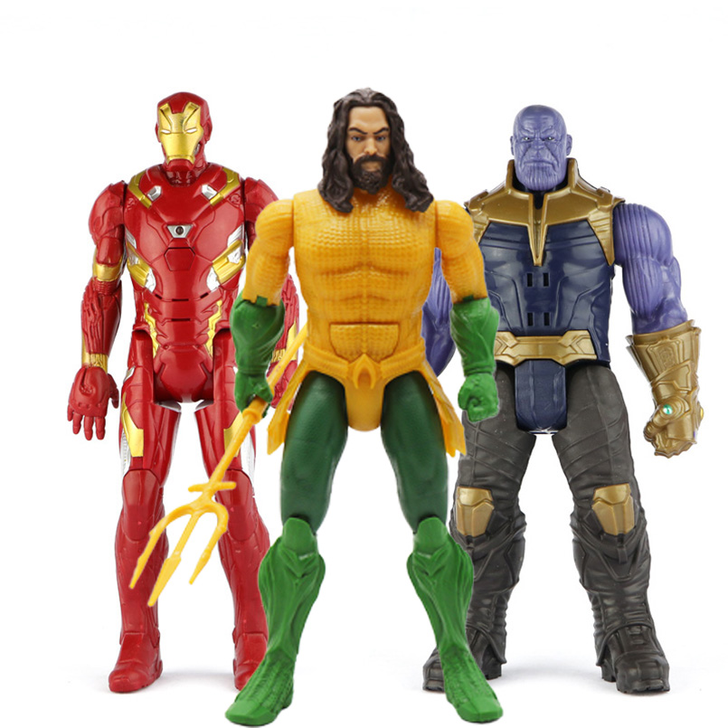 30cm-font-b-avengers-b-font-iron-man-captain-america-thor-thanos-spiderman-aquaman-flash-pvc-action-figure-toys-kid-gift