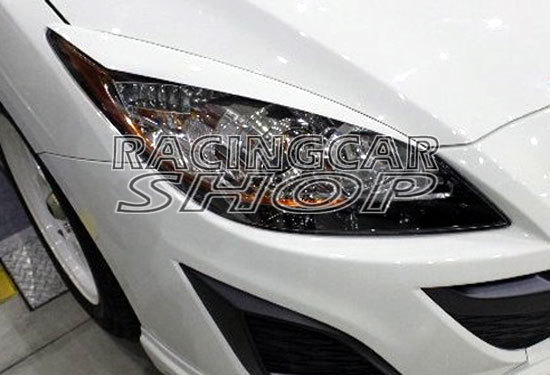 UN PAINTED C Style EYELID EYEBROW EYELIDS EYEBROW 1PAIR for Mazda 3 4/5dr 2010UP T032EB 1
