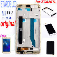 Original 5.2'' for Asus Zenfone 3 Max ZC520TL LCD Display Touch Screen Digitizer Assembly X008D Replacement with Frame