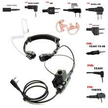 Mikrofon Walkie Talkie Heavy Duty U94 PTT szyi gardła mikrofon słuchawka Radio taktyczne słuchawki dla Baofeng Kenwood MIDLAND motorola