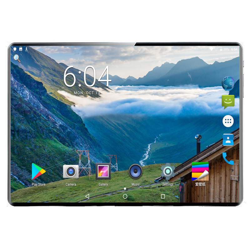 8G+128G Android 9.0 MTK6797 10 Ten Core 10 Inch Tablet PC 1920x1200 IPS Deca Core 8.0MP WIFI A-GPS 4G LTE 2.5D Tempered Glass