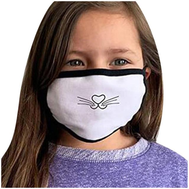 Korean Lovely White Dust Mask Kawaii Cotton Mouth Mask Cute Unisex Cartoon Mouth Muffle Face Mask Bear Mask0813 3