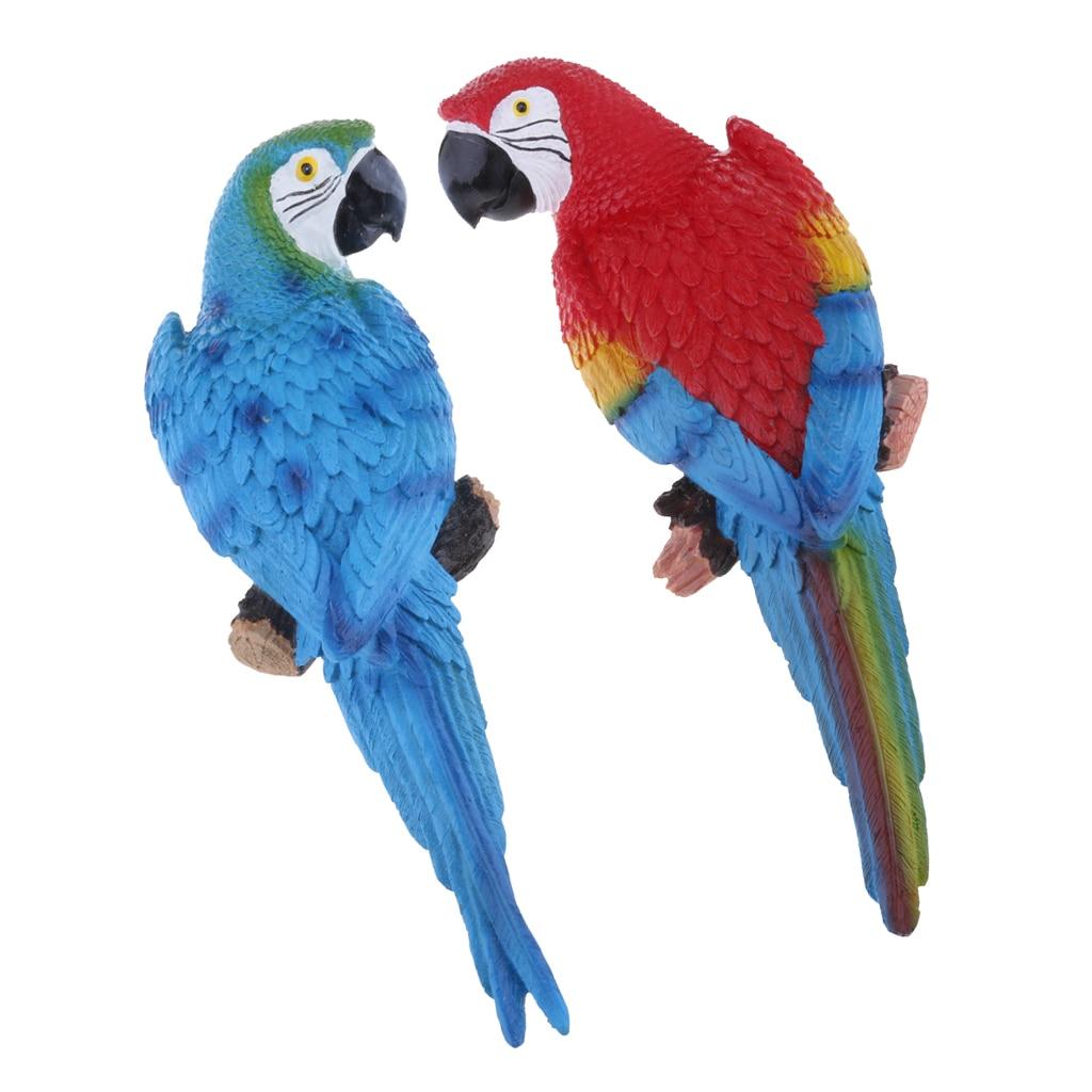 4pcs Simulation Bird Outdoor Indoor Resin Animal Gift Ornament Hanging Decor