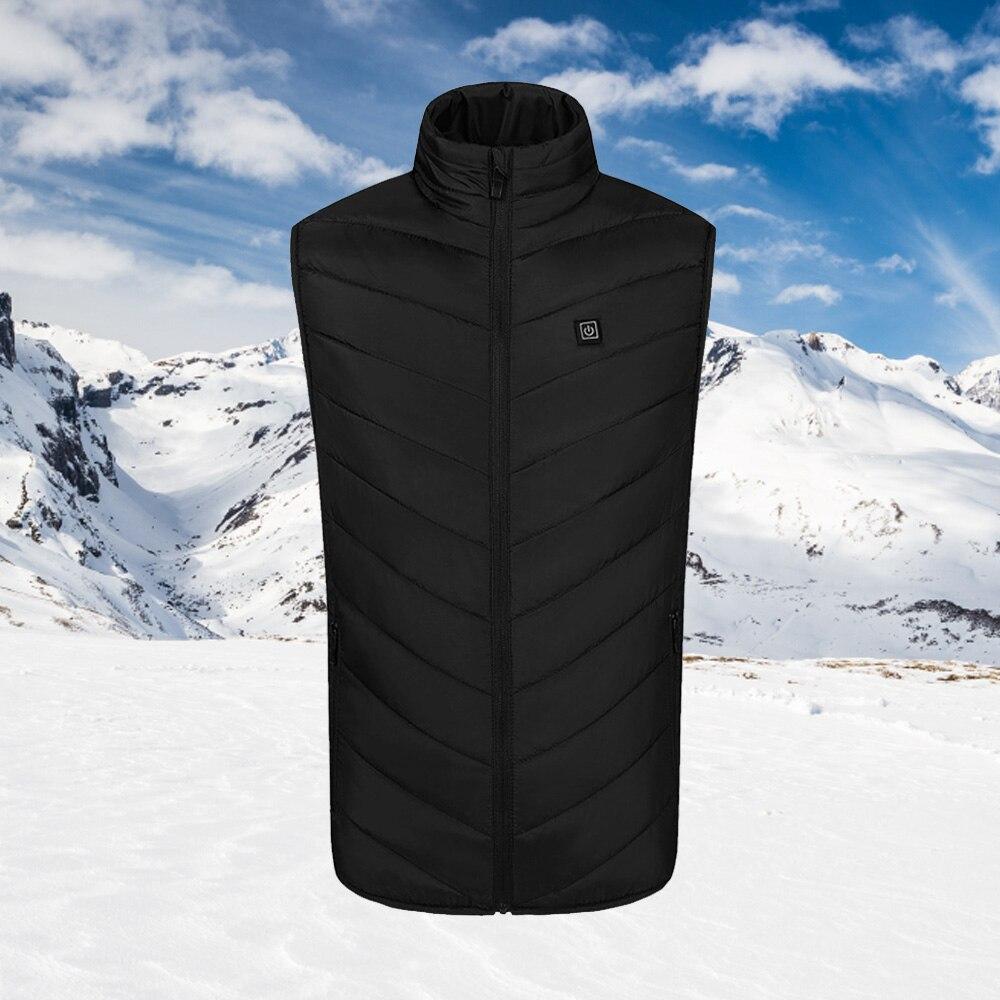 9 Области с подогревом жилет открытый гибкий термобарьер умный обогрев хлопок жилет зима USB инфракрасный электрический обогрев одежда для взрослых