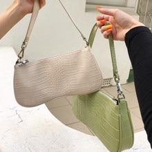 Sacs à main Vintage Alligator pour femmes, sacoche à bandoulière en forme de baguette de styliste rétro de luxe, petite bourse de selle pour dames, 2020
