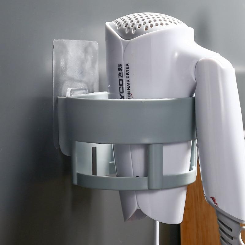 1 шт. настенная стойка для фена пластиковый держатель Вешалка многофункциональная стойка для хранения полка для хранения для ванной комнаты для домашнего использования Полки для ванной      АлиЭкспресс