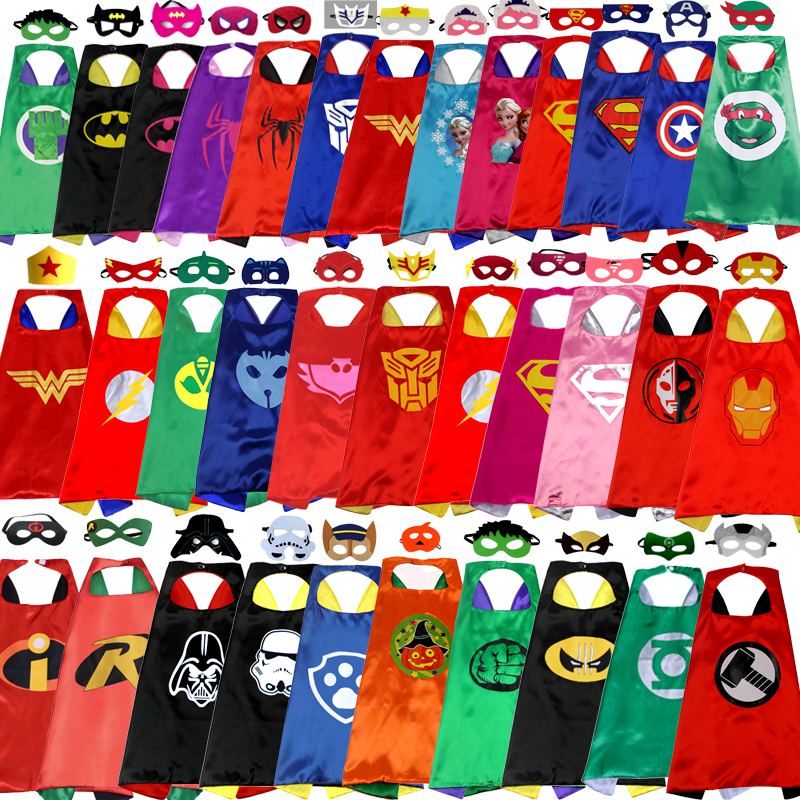 Manufacturers Supply Children's Cartoon Hero Cloak Custom Wholesale New Double Halloween Superman Cloak