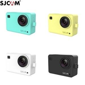 Image 2 - Originele Accessoires SJCAM Siliconen/Mouw + Pols Touw/Lanyard Beschermhoes/Frame/Cover/Grens voor SJ8 Pro Plus Actie Camera