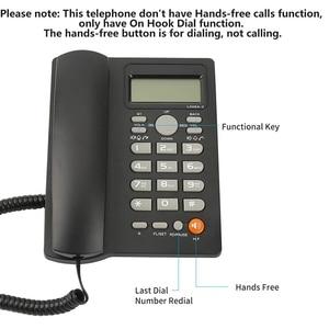 Image 2 - Masaüstü kablolu telefon ile arayan kimliği ekran, kablolu sabit telefon ev/otel/ofis için, ayarlanabilir hacim, gerçek zamanlı tarih W