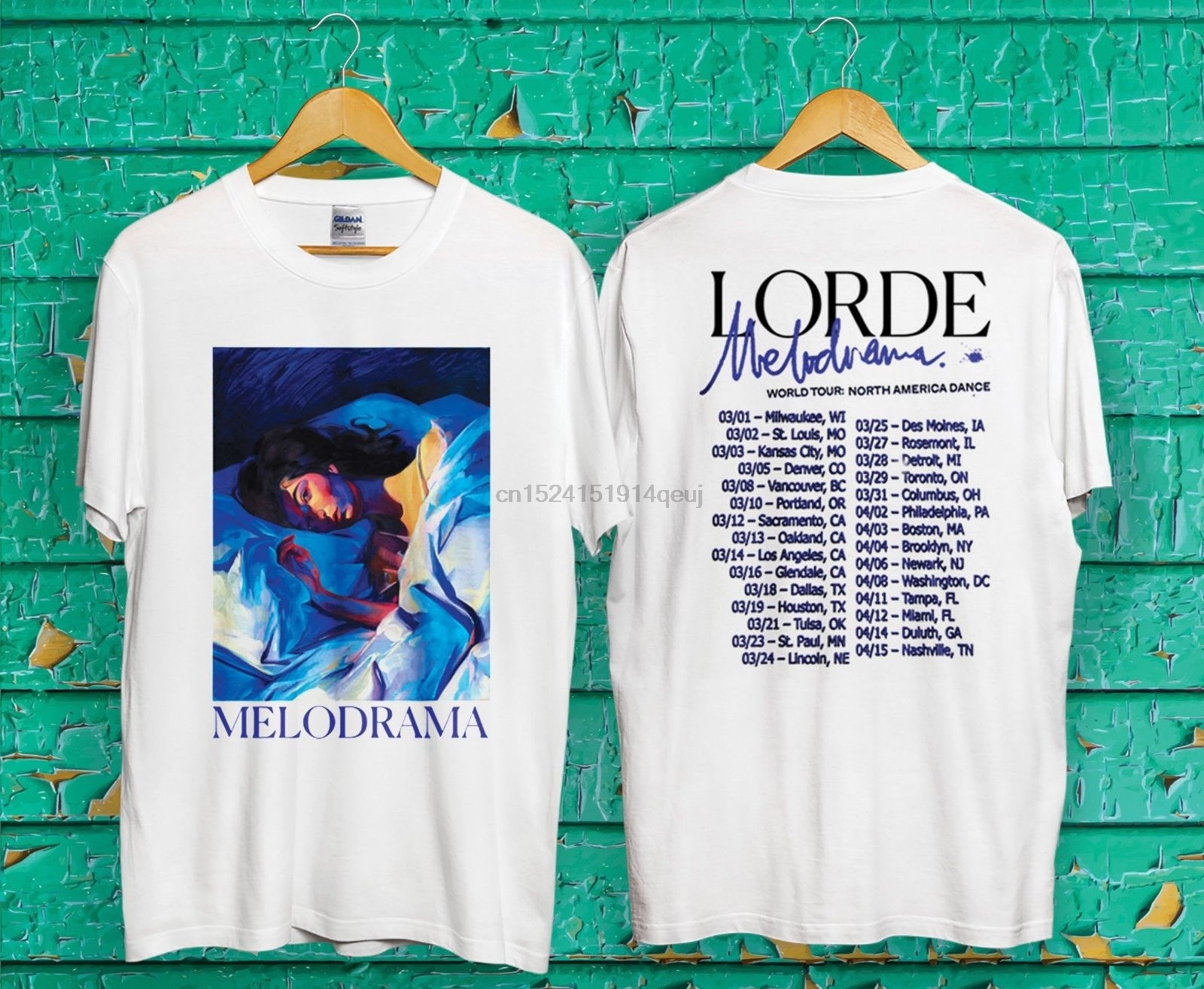 New Lorde Melodrama Tour 2019 Mens T-Shirt White