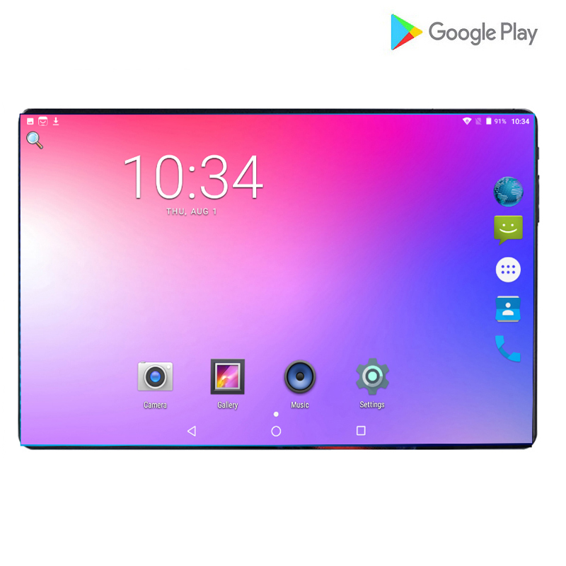 Tablette Ultra mince 4G LTE Android 9.0 Ram 6GB ROM 64GB tablette GPS Octa cœurs MTK tablette 8MP caméra double cartes SIM tablettes 10.1