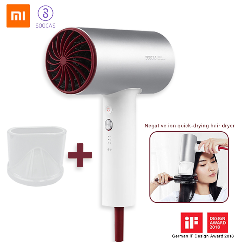 Xiaomi Fan Hair Dryer Negative Ion Professional Electric Hairdryer Salon 1800W High Power Silent Thermal Protection SOOCAS 5