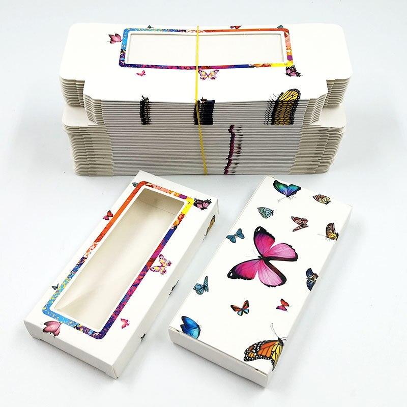 DOCOCEREyelash ambalaj kutusu toplu toptan özel 3D vizon kirpiklere kutuları Logo ile ambalaj makyaj seti kirpik durumda paketi
