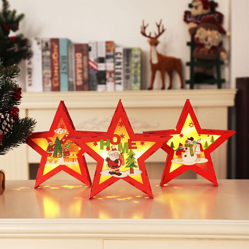 New Year Xmas Star Decorates Led Lights For Christmas Tree
