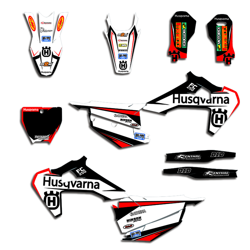 Motorcycle Graphic Decals Stickers DECO Customize KITS For Husqvarna TC FC  TX FS 125 250 350 450 2019-2020