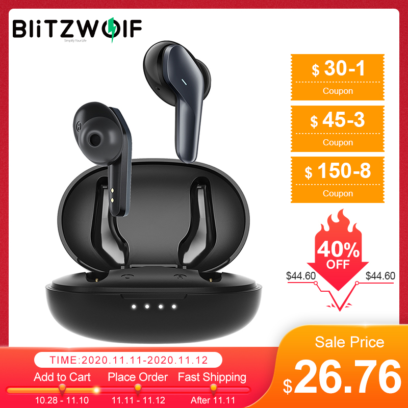 Blitzwolf BW FYE5S tws bluetooth 5.0 fone de ouvido sem fio fones super mini controle toque estéreo alta fidelidade ipx5 à prova dwaterproof água com microfone|Fones de ouvido| - AliExpress