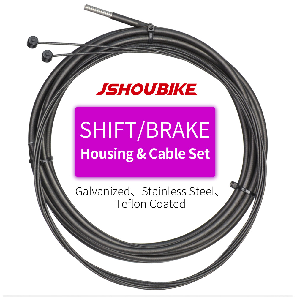 JSHOU BIKE Brake Shift Housing Cable Inner Wire Set for MTB Mountain and Road Bike Universal Braking Cycling Accessories