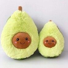 Stuffed avocado pillow Fluffy pillows Fruta Planta Decorate Tableware  Fruit pillow Avocado toy planta
