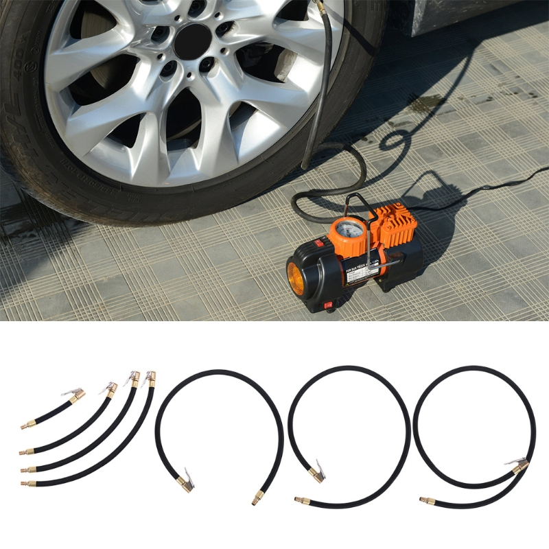 Воздушный шланг для автомобиля, 10/20/30/40/60/80 см, самоблокирующийся воздушный патрон, клапан для шин, мелкая резьба, 0,305 дюйма, воздушный компрес...