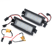 2Pcs Error Free 18 SMD Led Number License Plate Light For Hyundai I30 CW GD 5D Accent Elantra GT Kia Pro Ceed 2 Car Accessories