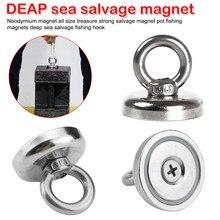 Aimant de pêche Permanent Super puissant, bloc magnétique avec crochet de récupération en haute mer
