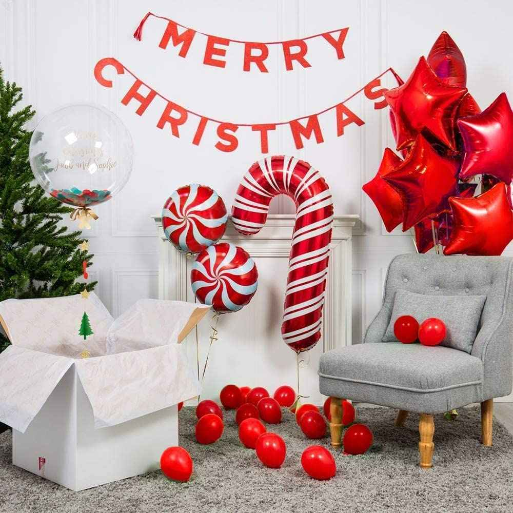 Christmas Balloon Garland Arch kit for Christmas Party Decorations with Gift Box