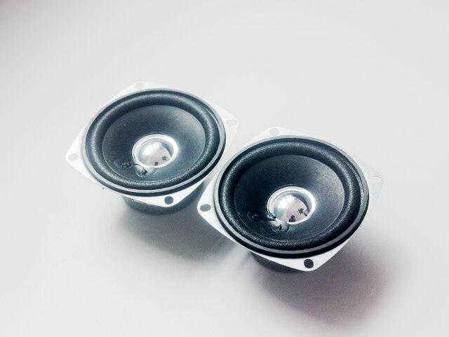 2 قطعة 10 واط 4 أوم 3 بوصة كامل المدى المتكلم DIY بها بنفسك HIFI مكبر الصوت لسيارة ستيريو المسرح المنزلي الصوت مكبرات الصوت