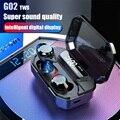 Новый GO2 TWS цифровой дисплей мощность гарнитура сенсорная гарнитура Bluetooth 5 0 гарнитура IPX7 Водонепроницаемая гарнитура Мобильная мощность PK ...