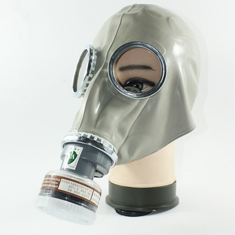 Chemical Gas Mask Respirator Russian Classic Style Military Rubber Material Full-face Protection Industrial Spray Paint Toxic