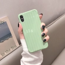 3D Suitcase Trunk Soft Case For iPhone XR XS Max X Candy Color Cover On 7 8 Plus iPhone6s 6 iPhone8 7Plus Bumper