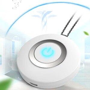 Image 3 - לביש אוויר מטהר שרשרת מיני נייד USB אוויר מנקה שלילי יון גנרטור נמוך רעש אוויר מטהר