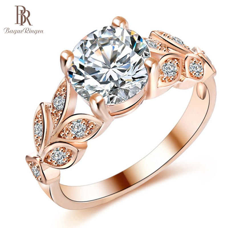 Bague Ringen HOT SALE 925 Silver Jewelry Rings For Women Temperament Flower Zircon Ring RoseGold Color Anniversary Birthday Gift